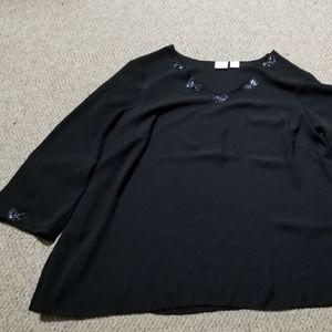 Studio C plus sheer overshirt